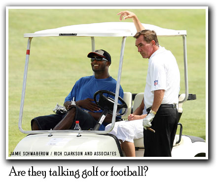 Mike Shanahan and Champ Bailey