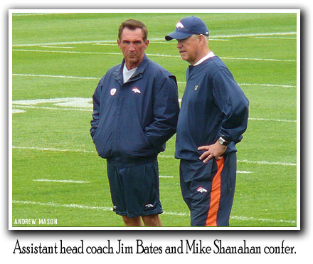 Mike Shanahan and Jim Bates